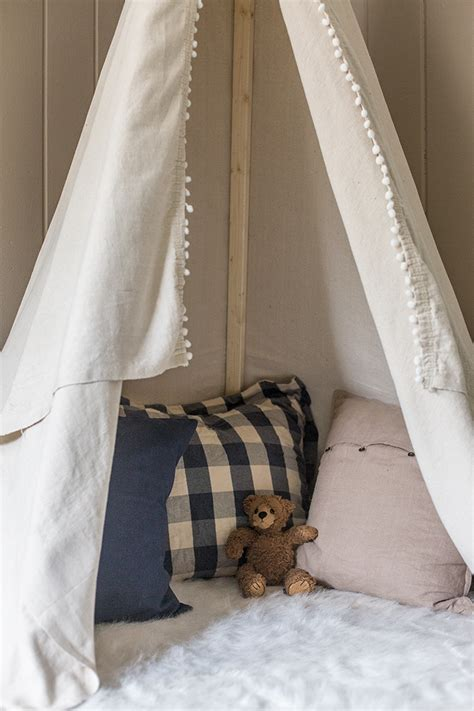 diy dropcloth teepee    jenna sue design blog