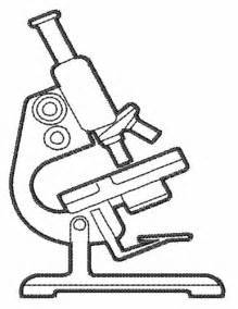 Microscope Line Drawing