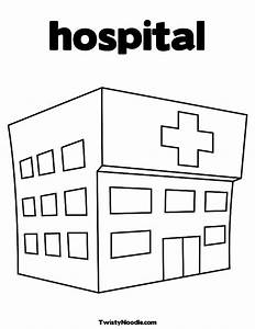 hospital building colouring pages