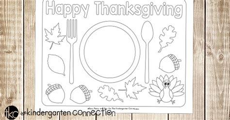 printable thanksgiving placemats  kids  printable sheets