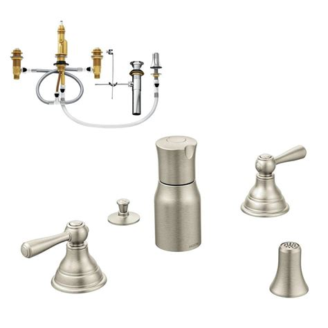 moen kingsley 2 handle bidet faucet trim kit with valve in