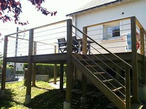 bien terrasse suspendue en beton 9 terrasse sur pilotis With terrasse beton sur pilotis
