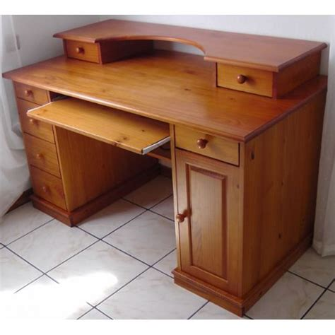 bureau pin massif bureau multimédia 39 authentic style 39 pin massif achat et