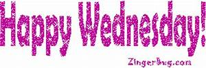 Happy Wednesday Magenta Glitter Glitter Graphic Comment