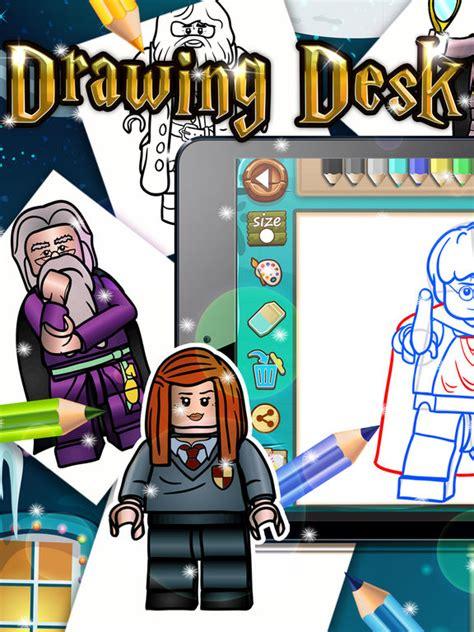 app shopper drawing desk coloring book  lego harry