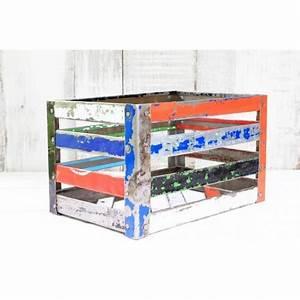 Caisse Metal Rangement : cageot de rangement caisse box color e en m tal recycl ramsa 5 ~ Teatrodelosmanantiales.com Idées de Décoration