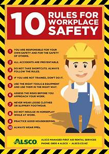 Workplace Safety Posters Free Download Alsco NZ