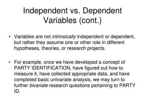 Ppt  Bivariate Analysis Relationships Between Variables And Measures Of Association Powerpoint
