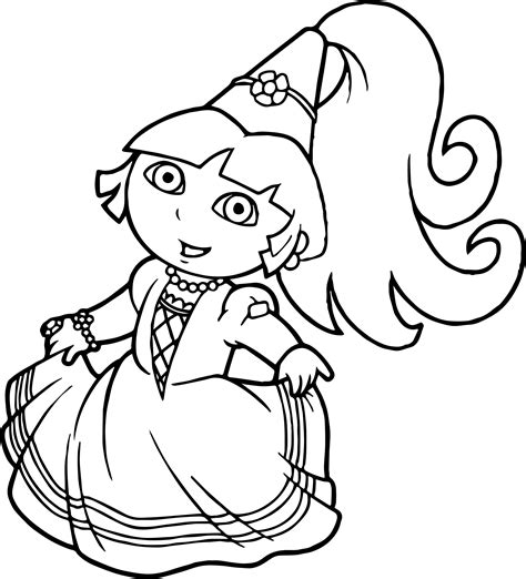 ideas  dora coloring pages  girls