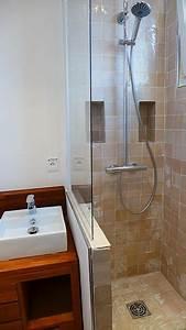 petite salle de bain douche a l39italienne projet With petite salle de bain douche italienne