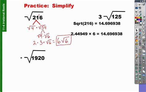 How To Do Simple Radical Form by 11 4 How To Find Simplest Radical Form Youtube