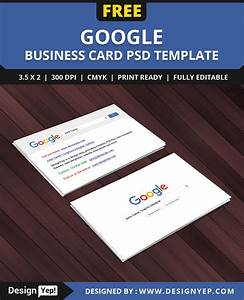 Google business card templates arts arts for Google business card template