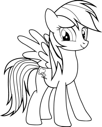printable   pony coloring pages    pony rainbow dash coloring pages
