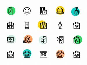 Smart Home Icon : smart home icons by sooodesign dribbble dribbble ~ Markanthonyermac.com Haus und Dekorationen