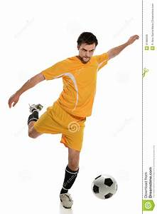 Soccer Player Kicking Ball Royalty Free Stock Images ...