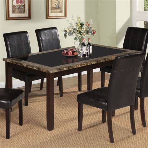 black marble kitchen table rolle dining table with tempered black glass in faux