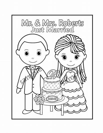 Coloring Printable Activity Personalized Books Favor Pdf