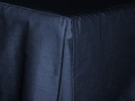 navy blue tailored bedskirt  cribs  daybeds