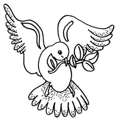 dove  peace coloring pages    print
