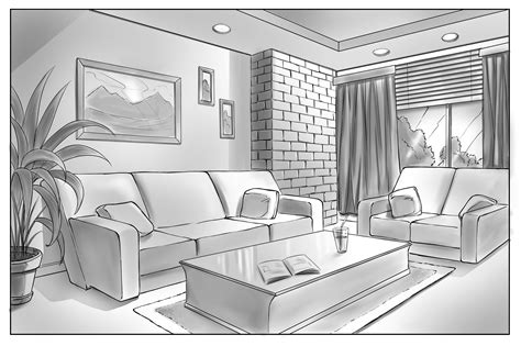 drawing  scene   point perspective robert marzullo