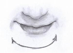 Drawn smile closed mouth smile - Pencil and in color drawn ...