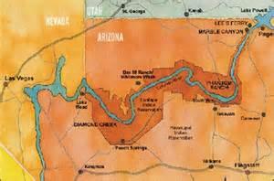 Grand Canyon Colorado River Map