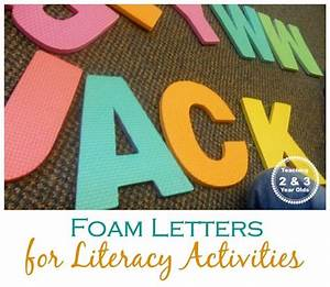 foam letters literacy activities and literacy on pinterest With teaching 3 year old letters