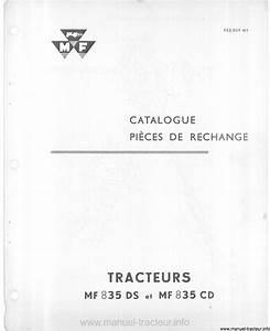 Catalogue Pieces De Rechange Renault Pdf : catalogue pi ces rechange massey ferguson mf 835 ds cd ~ Medecine-chirurgie-esthetiques.com Avis de Voitures
