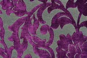 Polsterstoff Samt Grün : t rvorhang stoff ornament lila grau online kaufen ~ Michelbontemps.com Haus und Dekorationen