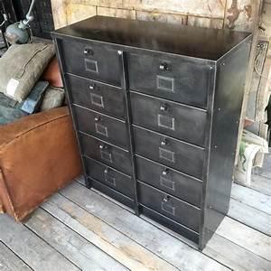 Meuble Design Industriel : meuble rangement industriel ~ Teatrodelosmanantiales.com Idées de Décoration