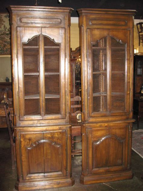 Antique Corner Cupboards For Sale by Handsome Pair Of Walnut Corner Cabinets For Sale