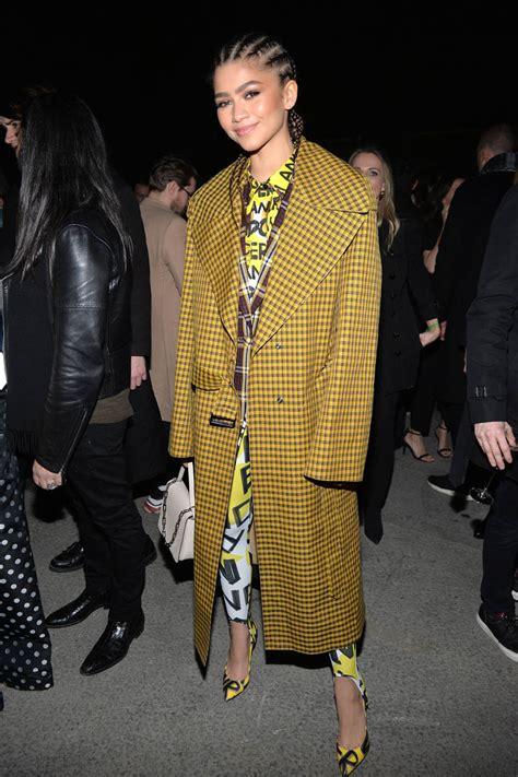zendaya holland tom dressed week lupita together nyong london february