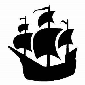 Pirate Ship Stencil - ClipArt Best