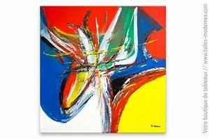 Tableau Moderne Coloré : grand tableau color spectacle anim ~ Teatrodelosmanantiales.com Idées de Décoration
