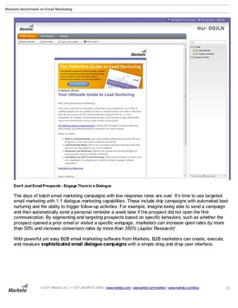marketo email marketo benchmark on email marketing