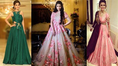 Top Beautiful Party Gown Design For Indian Brides For