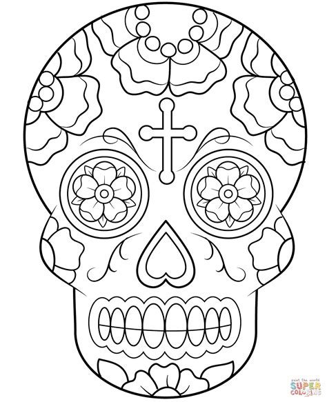 Skulls Coloring Pictures 2691042