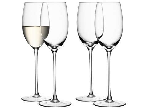 lsa bicchieri lsa international collezione wine 4 bicchieri bianco
