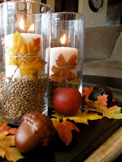 easy thanksgiving decorations simple and easy thanksgiving centerpiece ideas using candles family holiday net guide to