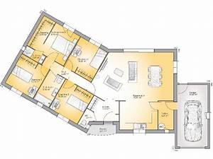 plan maison plain pied 3 chambres 110m2 With modele de maison en l 0 photo de maison familiale