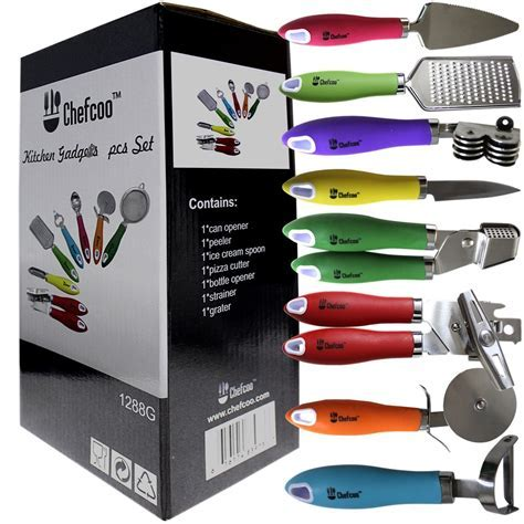 8 Pieces Kitchen Gadget Tools Set by Chefcoo? ? Stainless
