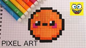 Pixel Art Manger : comment dessiner une orange kawaii fruit kawaii youtube ~ Melissatoandfro.com Idées de Décoration