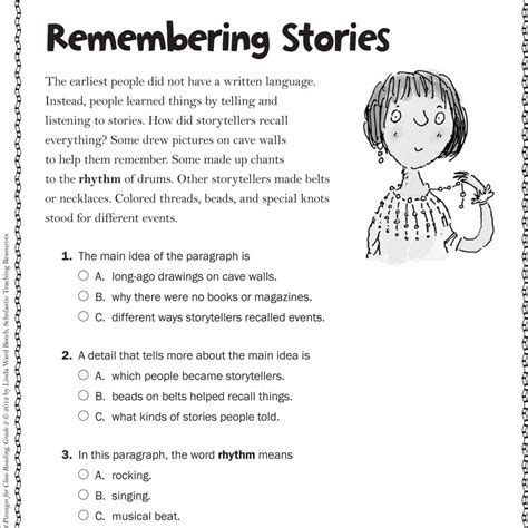 Free Printable 2nd Grade Reading Comprehension  Kidz Activities