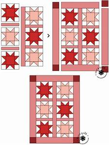 Petite Christmas Stars Mini Quilt
