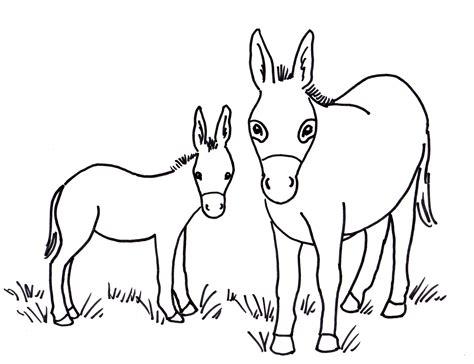 Donkey Coloring Page - Eskayalitim