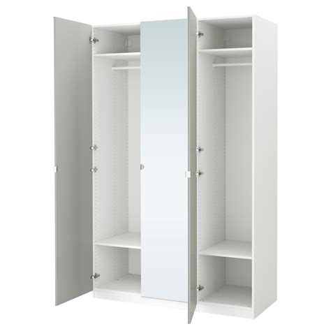 Porte Manteau Armoire Ikea by Pax Wardrobe White Vikedal Mirror Glass 150x60x236 Cm Ikea