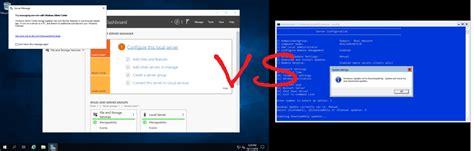windows server  server core  desktop experience gui