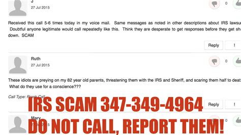 who do i report phone scams to irs scam 347 349 4964 do not call report the number