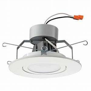 Lithonia lighting in matte white recessed gimbal led