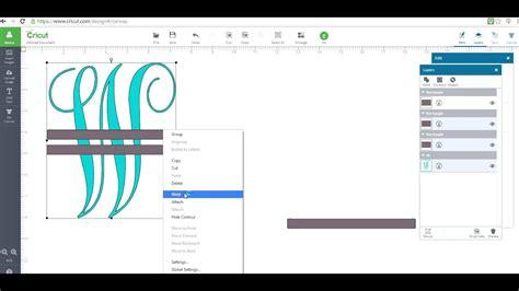 monagram split letter  cricut design space youtube